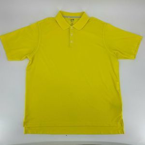 Adidas Mens Golf Shirt Size 2X Yellow Climalite